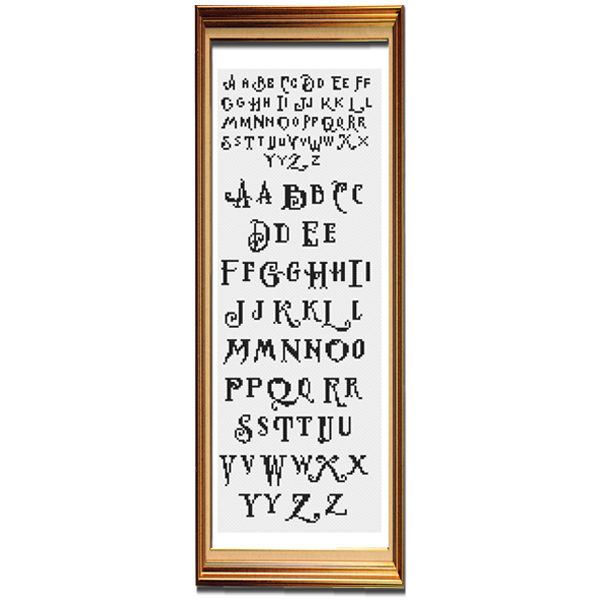 Alphabet 3 cross stitch pattern