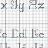 Backstitch alphabet detail cross stitch pattern