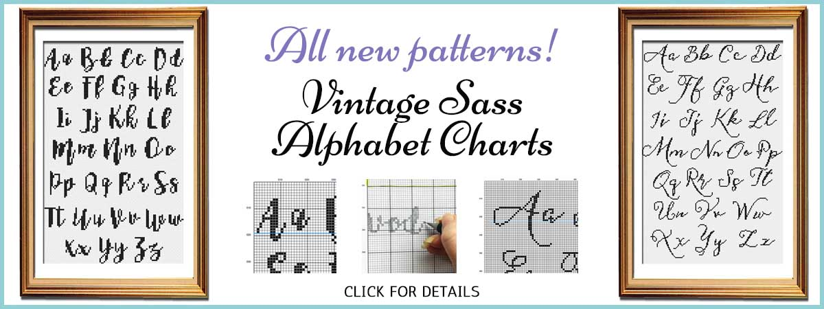Cross stitch alphabets banner