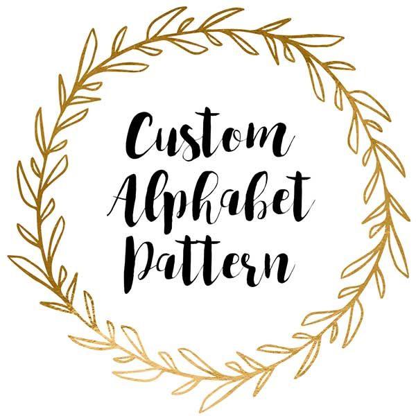 Custom alphabet cross stitch pattern