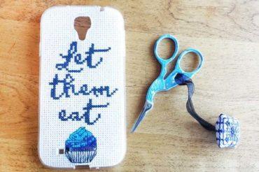 Cross stitch phone case: create a personalized phone case