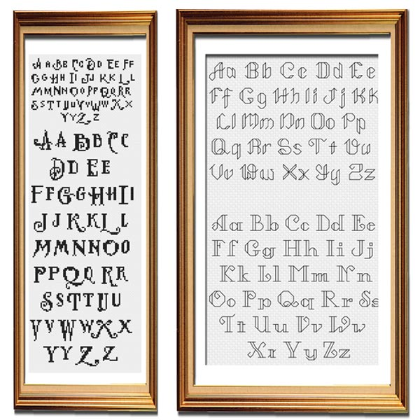 Spirited Animals alphabet set cross stitch pattern