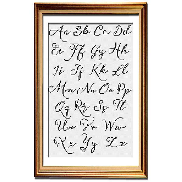 Vintage Sass Alphabet 2