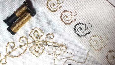 Kreinik metallic threads cross stitch