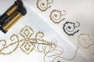 Kreinik metallic threads: metallic floss for cross stitch and embroidery