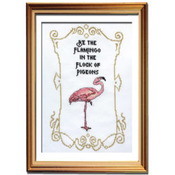 Be the flamingo cross stitch pattern
