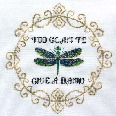 Too Glam snarky cross stitch