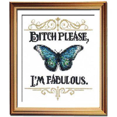 I'm Fabulous cross stitch pattern