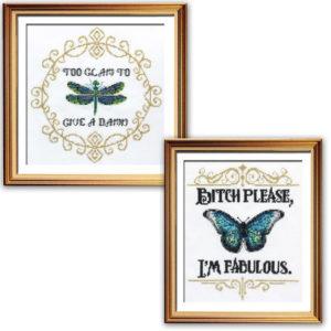 I'm so glam cross stitch patterns funny inspirational sayings