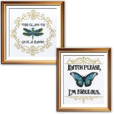 I'm so glam cross stitch patterns funny inspirational sayings