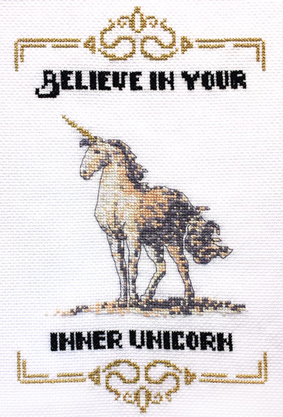 Inner Unicorn cross stitch pattern