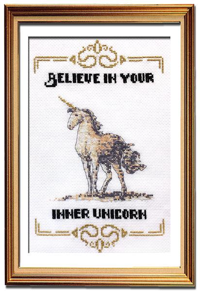 Inner Unicorn cross stitch pattern