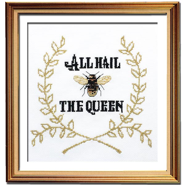 Queen Bee cross stitch pattern