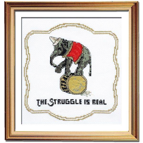 Struggle is real cross stitch pattern