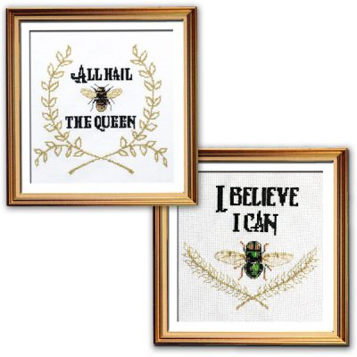 Lets fly inspirational cross stitch patterns set