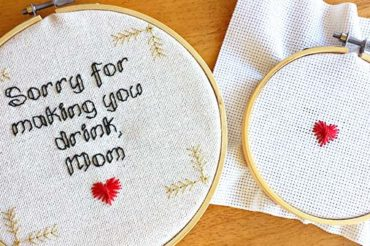 Embroidery stitch tutorial: the Rhodes heart
