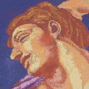 Breathe Michelangelo needlework cross stitch pattern