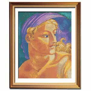 Day cross stitch pattern Michelangelo stitching