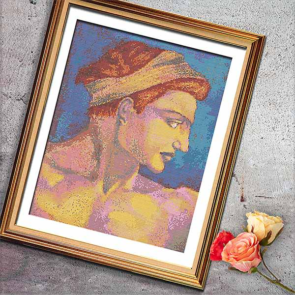 Determine Sistine Chapel cross stitch pattern