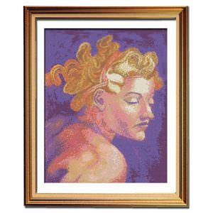Night Sistine Chapel needlework cross stitch pattern
