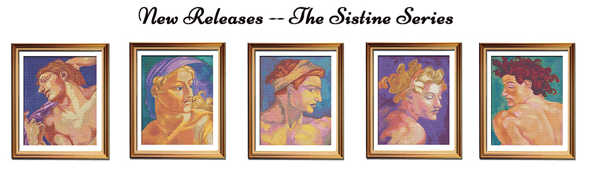 Sistine Series Michelangelo cross stitch patterns
