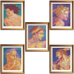Sistine series Michelangelo cross stitch bundle