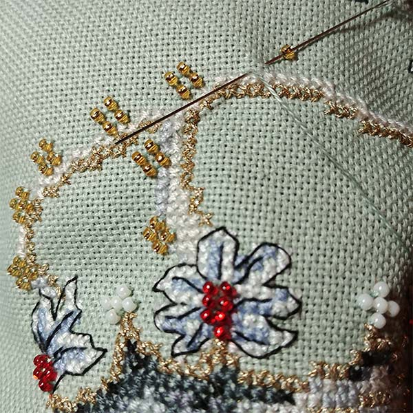 Bow Before Me birthday cross stitch pattern