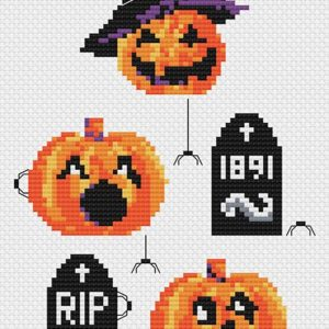 Halloween cross stitch pattern