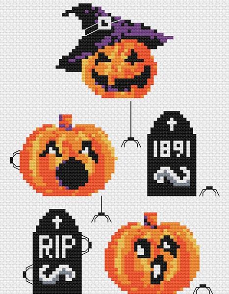 Halloween cross stitch pattern