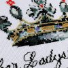 Her Ladyship cross stitch baby announcement