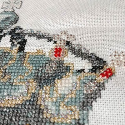 His Lordship cross stitch baby announcement