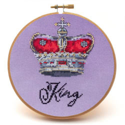 King cross stitch crown pattern