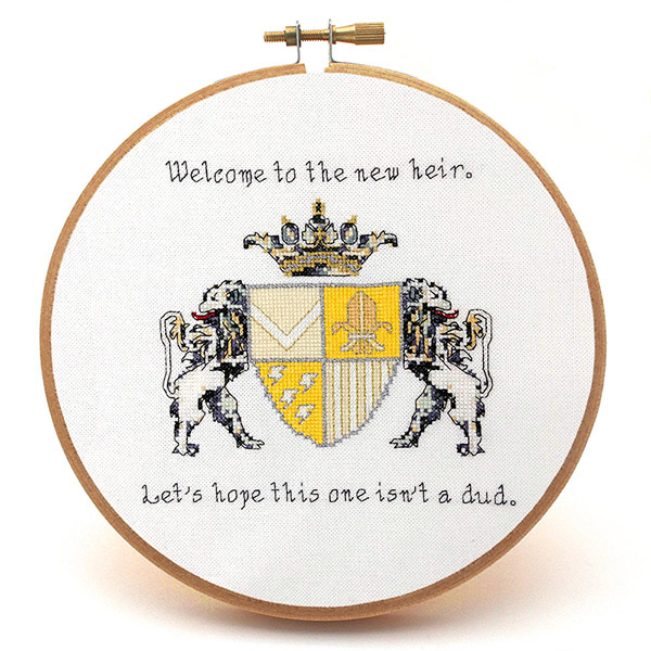 New Heir baby cross stitch pattern