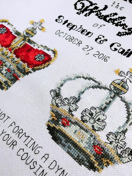 Royal Wedding cross stitch pattern