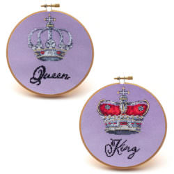 Royal Couple cross stitch gift set