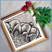 Rustic Dahlia 1 cross stitch pattern