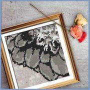 Rustic Dahlia 3 cross stitch pattern