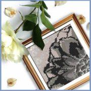 Rustic Dahlia 4 cross stitch pattern