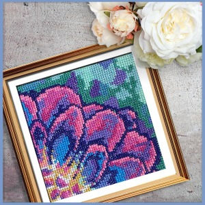 Solarize Dahlia 1 counted cross stitch pattern
