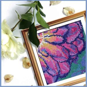 Solarize Dahlia 2 counted cross stitch pattern