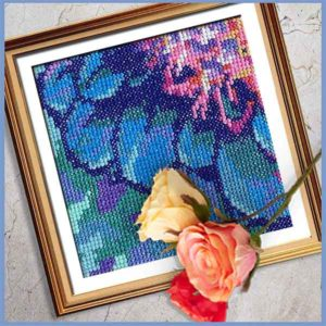 Solarize Dahlia 3 counted cross stitch pattern