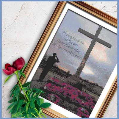 For the Fallen Cross Stitch Pattern