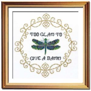 Too Glam snarky cross stitch
