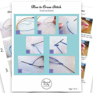 How to cross stitch instructions
