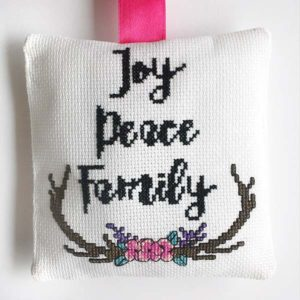 Joy Peace Family cross stitch pattern
