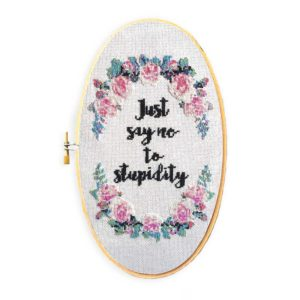 Just Say No Cross Stitch Pattern