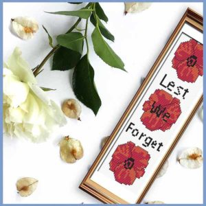 Lest We Forget bookmark cross stitch pattern