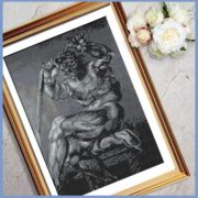 Shades of Strength cross stitch picture