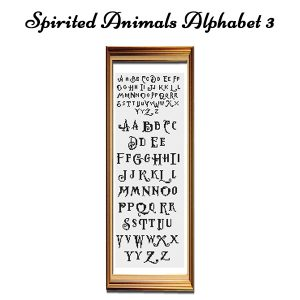 Spirited Animals cross stitch Alphabet 3