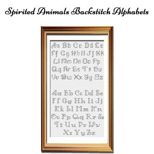 Spirited Animals cross stitch Backstitch Alphabets